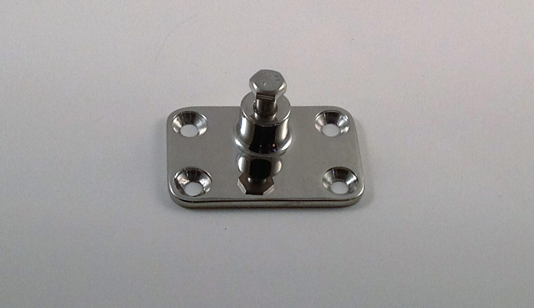 Bimini Top Side  Mount Deck Plate (4 hole)