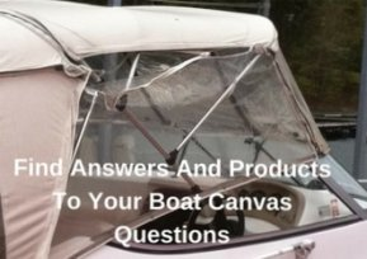 Broken boat canvas zipper