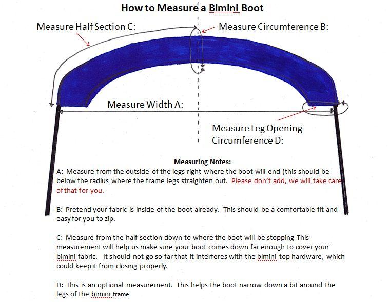 How to Measure a Bimini Boot