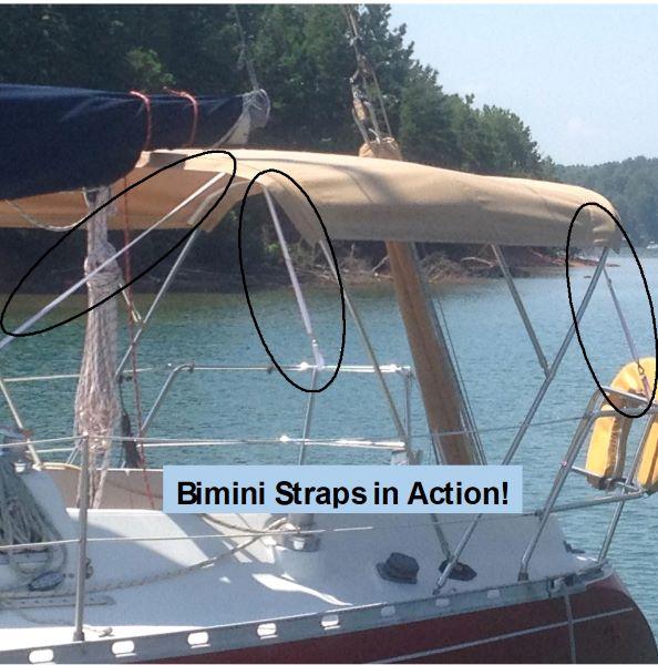 Bimin Straps on boat