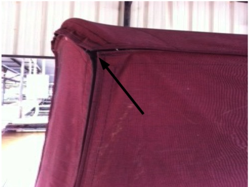 The fit of your boat enclosure may leave gaps, allowing water to infiltrate