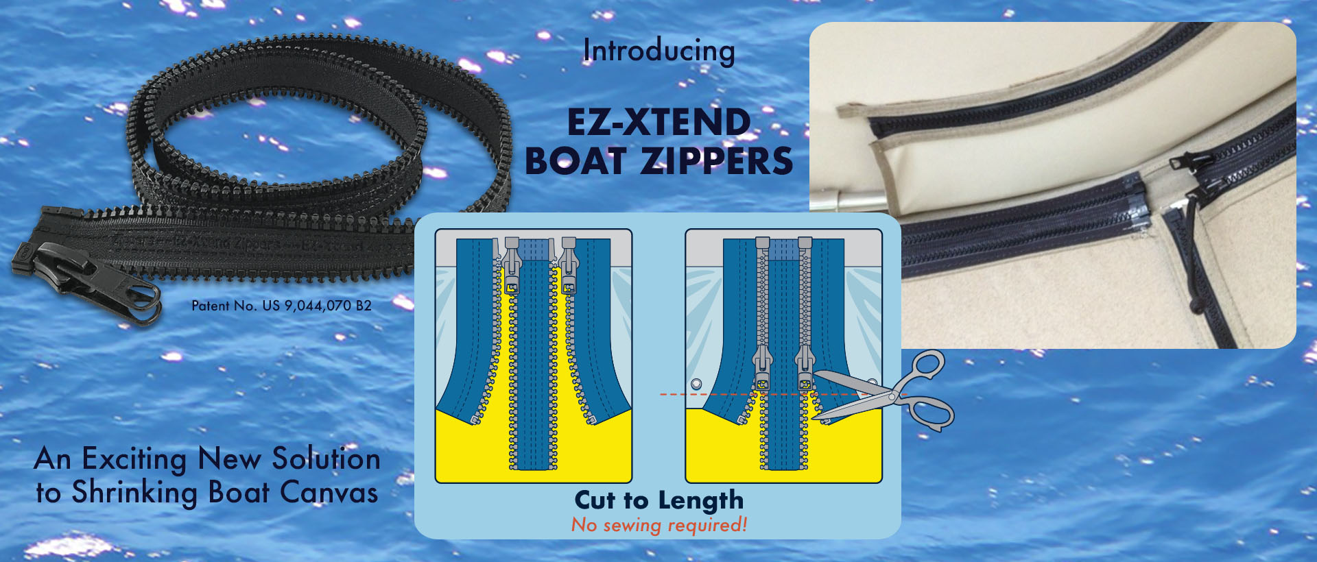 EZ-Xtend Boat Zippers Fix Shrinking Boat Enclosures Instantly!
