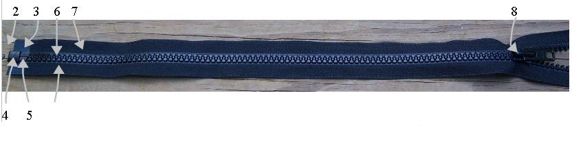 Marine Zipper Componets on Repair Zipper Box And Pin