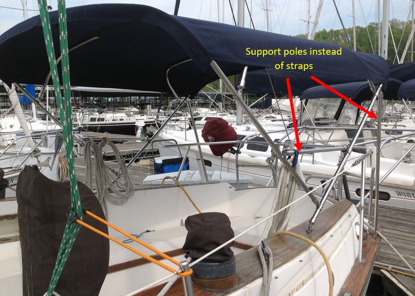 Boat with Support Poles