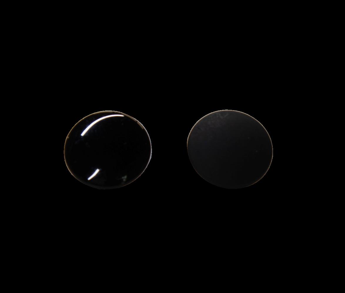 Black Durable Button
