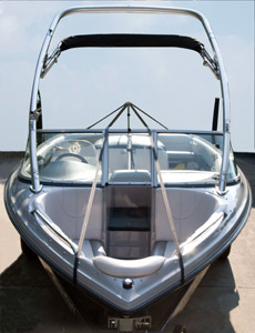 Boat with webbing support system