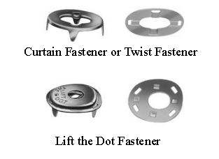 Lift the Dot and Twist Fastener